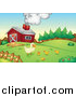 Clipart of Chicks and a Duck on a Farm by Graphics RF