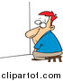 Pal Clipart of a Cartoon Red Haired White Businessman Doing Time out in a Corner by Toonaday