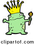 Pal Clipart of a Frog Prince by Lineartestpilot