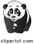 Pal Clipart of a Happy Panda by Visekart