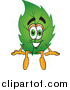 Pal Clipart of a Leaf Character Sitting on a Wall by Toons4Biz