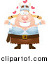 Pal Clipart of a Loving Blond Caucasian Viking Woman Wanting a Hug by Cory Thoman