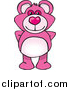 Pal Clipart of a Pink Teddy Bear by Dennis Holmes Designs