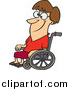 Pal Clipart of a Smiling Brunette White Woman in a Wheelchair by Toonaday