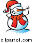 Pal Clipart of a Snowman with a Scared Face by Zooco