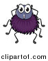 Pal Clipart of a Surprised Purple Spider by Graphics RF