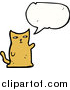 Pal Clipart of a Talking Ginger Cat by Lineartestpilot