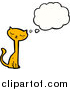Pal Clipart of a Thinking Ginger Cat by Lineartestpilot