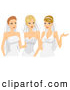 Pal Clipart of a Trio Happy Brides in Desses and Veils by BNP Design Studio