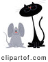 Pal Clipart of Black Cat and Mouse Friends by Yayayoyo