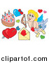 Pal Clipart of Cupid and Hearts by Visekart