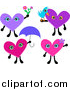Pal Clipart of Heart Characters by