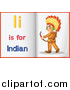 Pal Clipart of Letter I Is for Indian Alphabet Learning Book Pages by Graphics RF