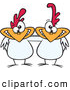 Pal Clipart of White Chicken Pals by Toonaday
