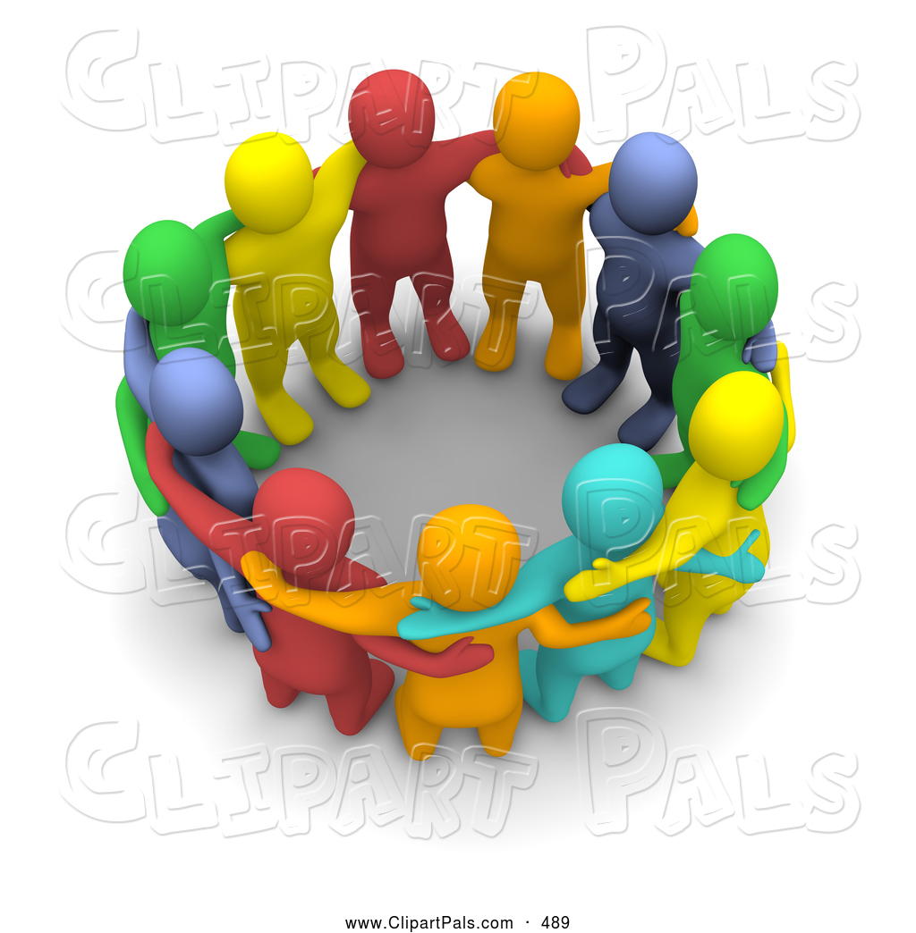 pal clipart of a 3d colorful team of people huddled by clip art group of people in circle clip art group of people in circle