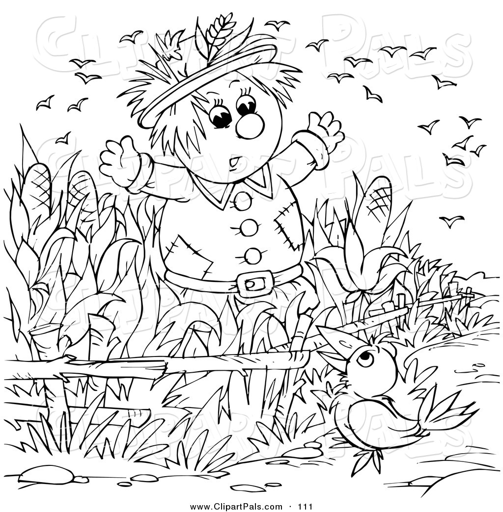 Pal Clipart of a Coloring Page Outline Design of a Crow Talking to ...
