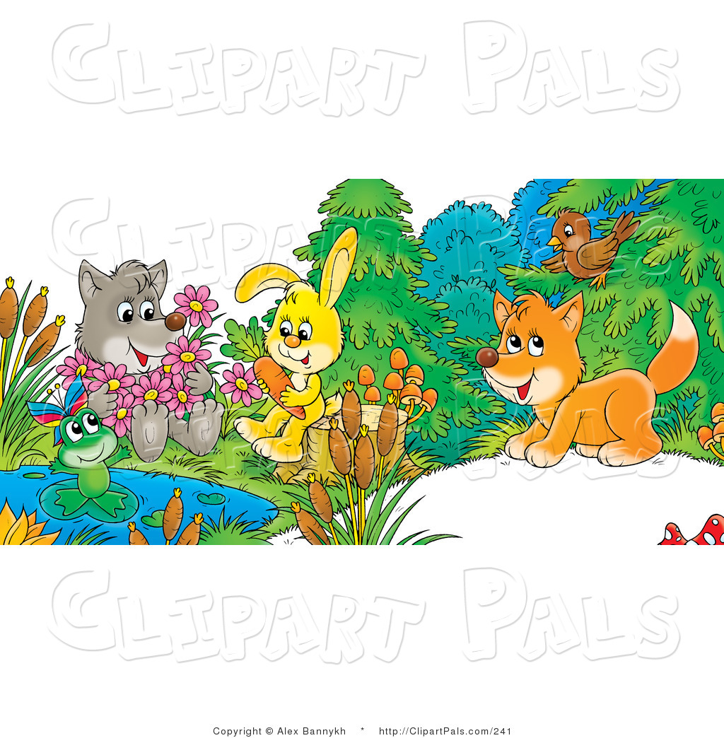 pal clipart of a cute cartoon wolf holding flowers  a frog lily pad clip art template lily pad clipart images