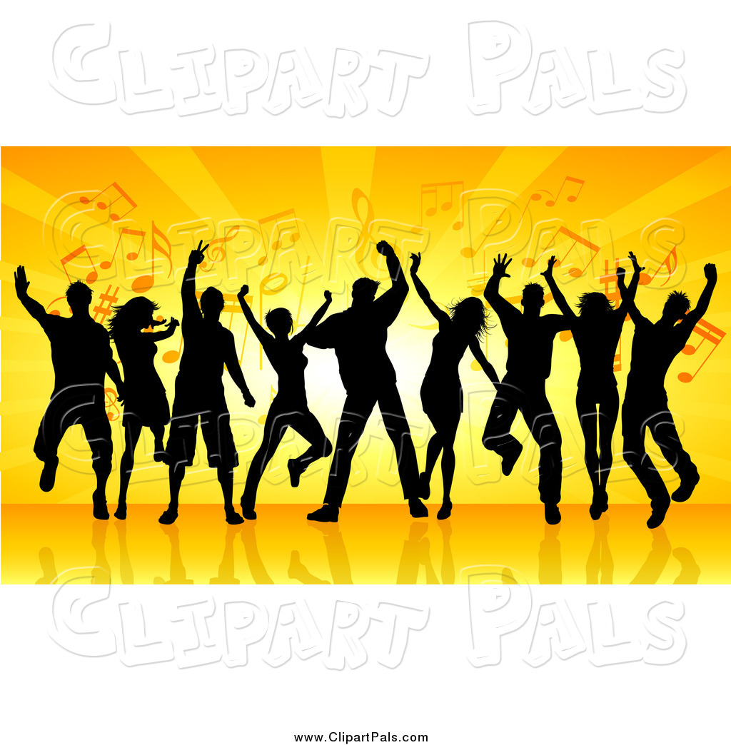 pal clipart of a group of black silhouetted dancers youth group clip art free church youth group clip art