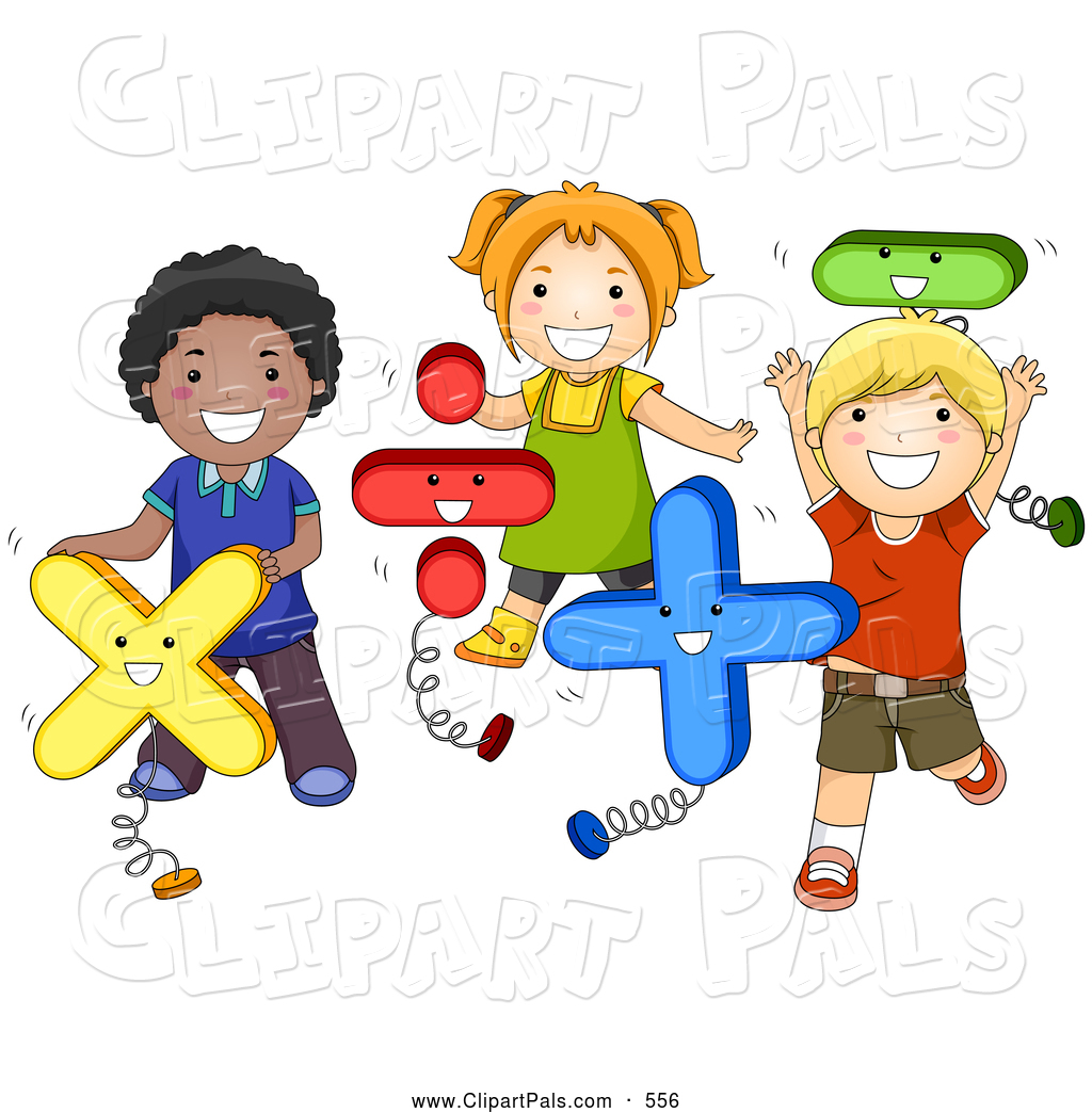 Pal Clipart of a Group of Diverse School Kids Playing with Math ...