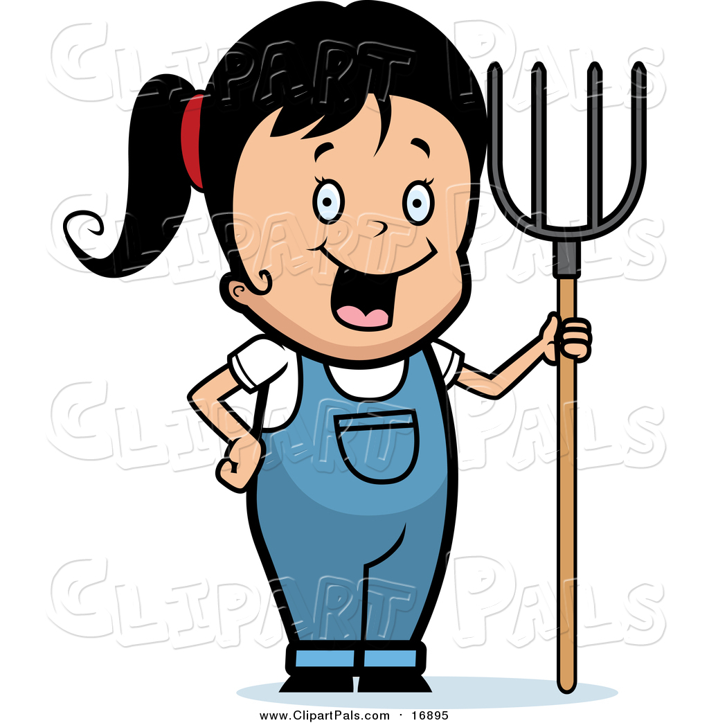 African-american Farmer Holding A Pitchfork. Happy Farmer In.. Royalty Free  Cliparts, Vectors, And Stock Illustration. Image 68316046.
