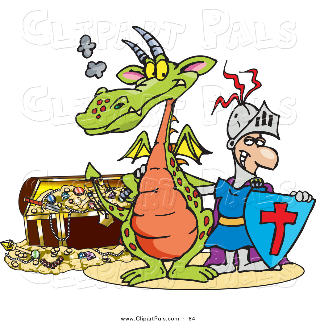 pal clipart of a knight and green dragon standing in front of a rh clipartpals com Girl Reading Clip Art Baby Reading Clip Art