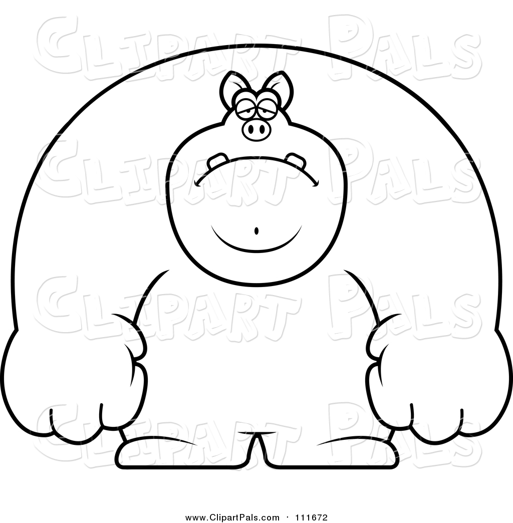 pal clipart of a lineart depressed buff pig by cory thoman 111672