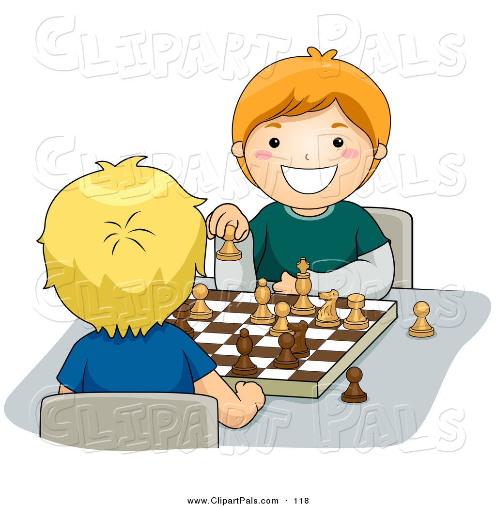Pal Clipart Of A Pair Of Happy Boys Playing A Game Of Chess By Bnp Design Studio 118