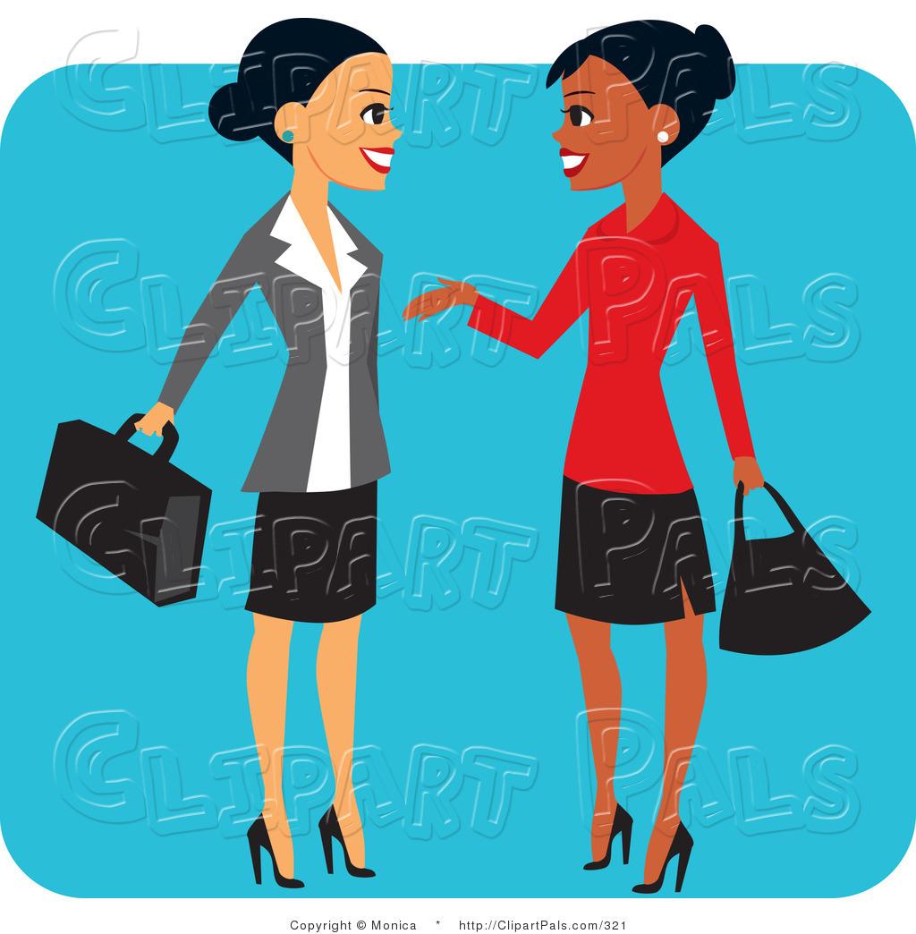 pal clipart of a pretty hispanic and black business women chatting rh clipartpals com Black Women Holding Hands Black Women Holding Hands