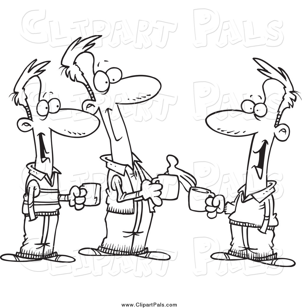 Pal Clipart Of Black And White Brothers Talking Over