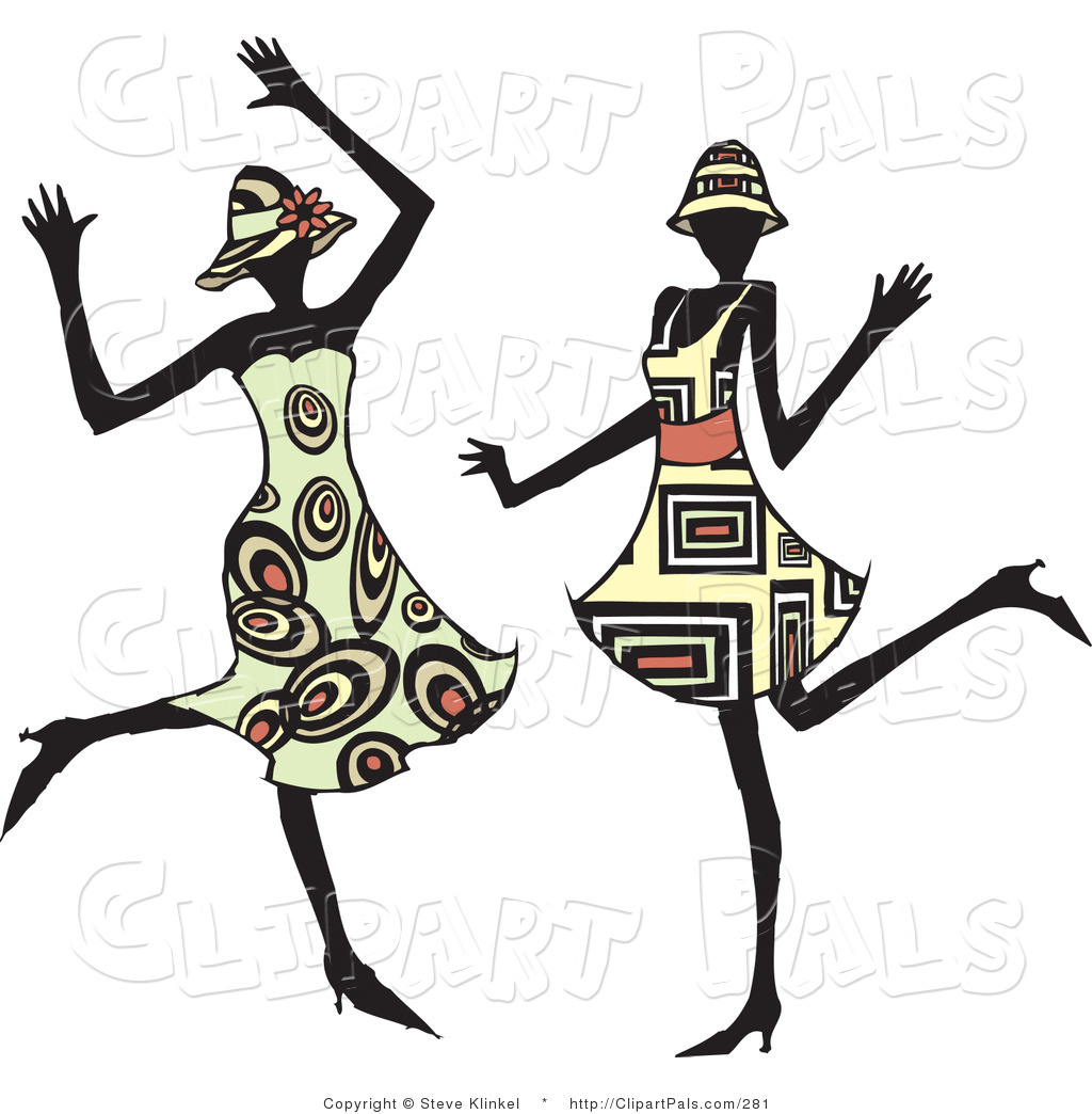 pal clipart of two energetic dancing women in hats and fashionable rh clipartpals com little girl dancing clipart old ladies dancing clipart
