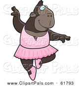 Pal Clipart of a Ballerina Ape Dancer by Cory Thoman