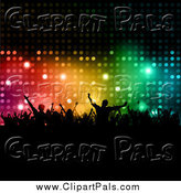 Pal Clipart of a Colorful Backdrop with Silhouetted Dancers by KJ Pargeter