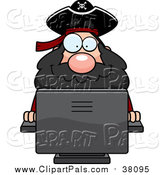 Pal Clipart of a Computer Pirate - Cartoon Style by Cory Thoman