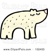 Pal Clipart of a Happy Polar Bear by Lineartestpilot