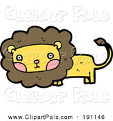 Pal Clipart of a Lion with Flushed Cheeks by Lineartestpilot