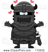 Pal Clipart of a Loving Armoured Black Knight Wanting a Hug by Cory Thoman