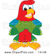 Pal Clipart of a Macaw Parrot by Toons4Biz