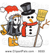 Pal Clipart of a Pepper Shaker with a Snowman by Toons4Biz