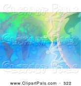 Pal Clipart of a Pretty and Colorful Atlas and Globe Background with Paper People by Prawny