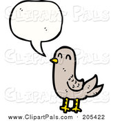 Pal Clipart of a Talking Beige Bird by Lineartestpilot
