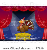 Pal Clipart of a Turkey Bird on Stage by Graphics RF