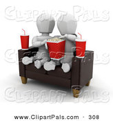 Pal Clipart of a White Character Couple Watching a Movie and Sharing Popcorn in a TheaterWhite Character Couple Watching a Movie and Sharing Popcorn in a Theater by KJ Pargeter