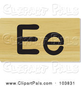 Pal Clipart of a Wooden Letter E Plaque by Graphics RF