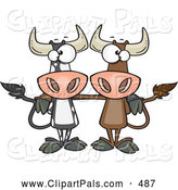Pal Clipart of Cow Buddies by Toonaday