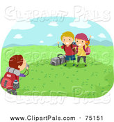 Pal Clipart of Summer Camp Kids Posing for Outdoor Photos by BNP Design Studio