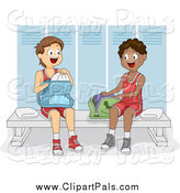 Pal Clipart of Teen Boys in a Gym Locker Room by BNP Design Studio