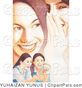 Pal Clipart of Teen Girls Gossiping and Laughing by YUHAIZAN YUNUS