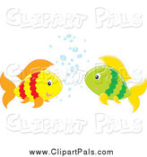 Pal Clipart of Two Fish Talking by Alex Bannykh