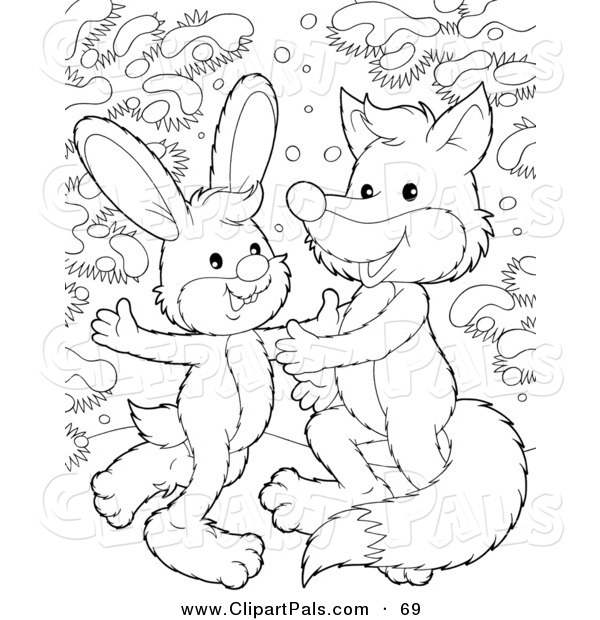 Pal Clipart of a Coloring Page