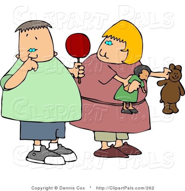 Pal Clipart of a Girl Watching a Gross Boy Pick His Nose with His Pointer Finger